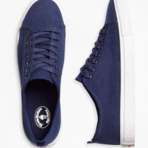 Brooks Brothers Blue Canvas Sneakers